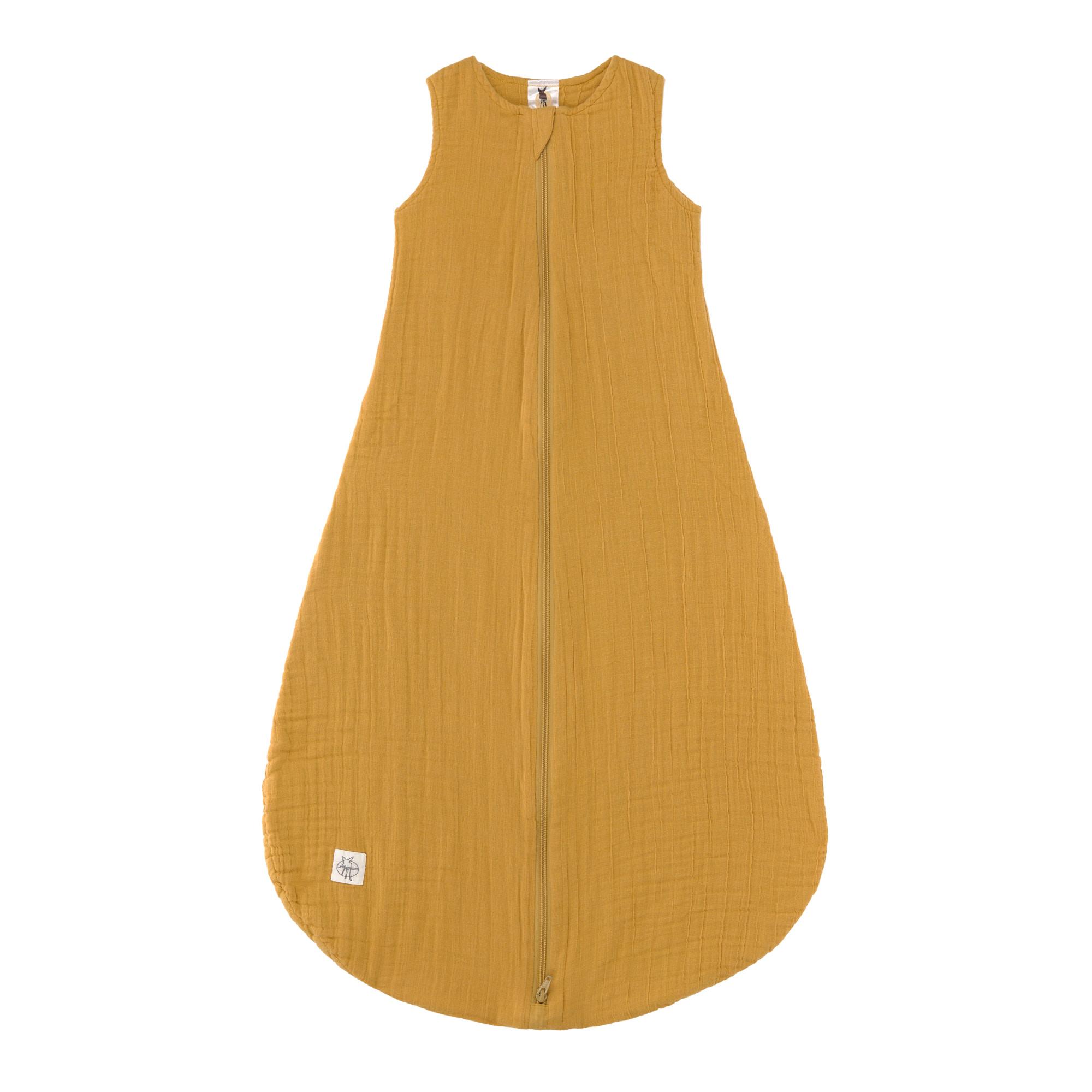 Muslin Baby-Schlafsack senf Größe 50/56