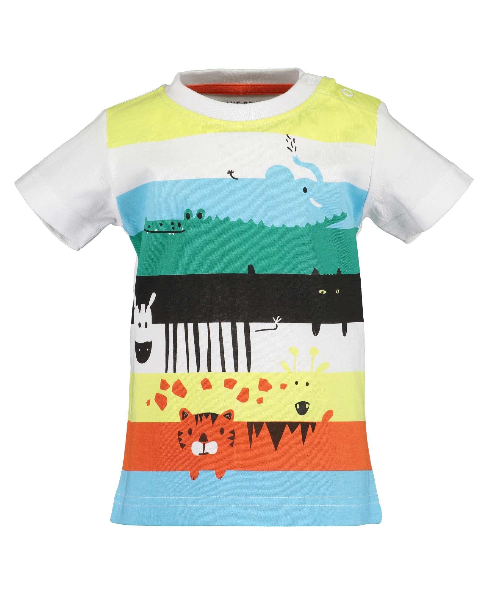 T-Shirt 086 weiss Blue Seven
