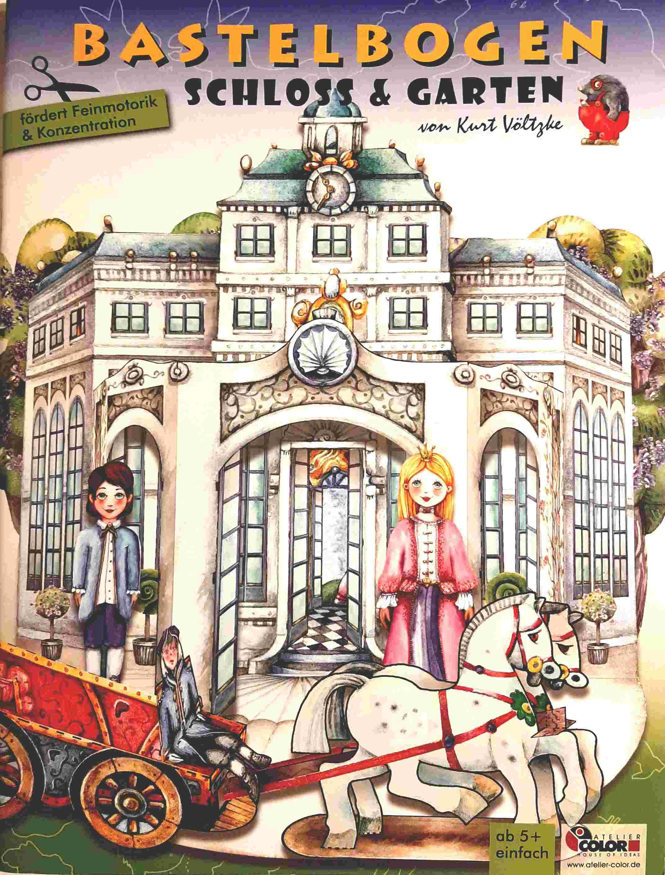 Bastelbogen Schloss&Garten