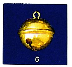 Schelle groß ( 3 cm ) Glöckchen, gold 3cm