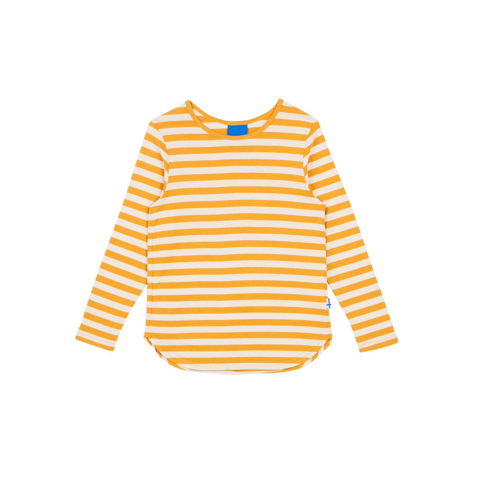 MERISILLI golden yellow/white longsleeve  100/110 Finkid®