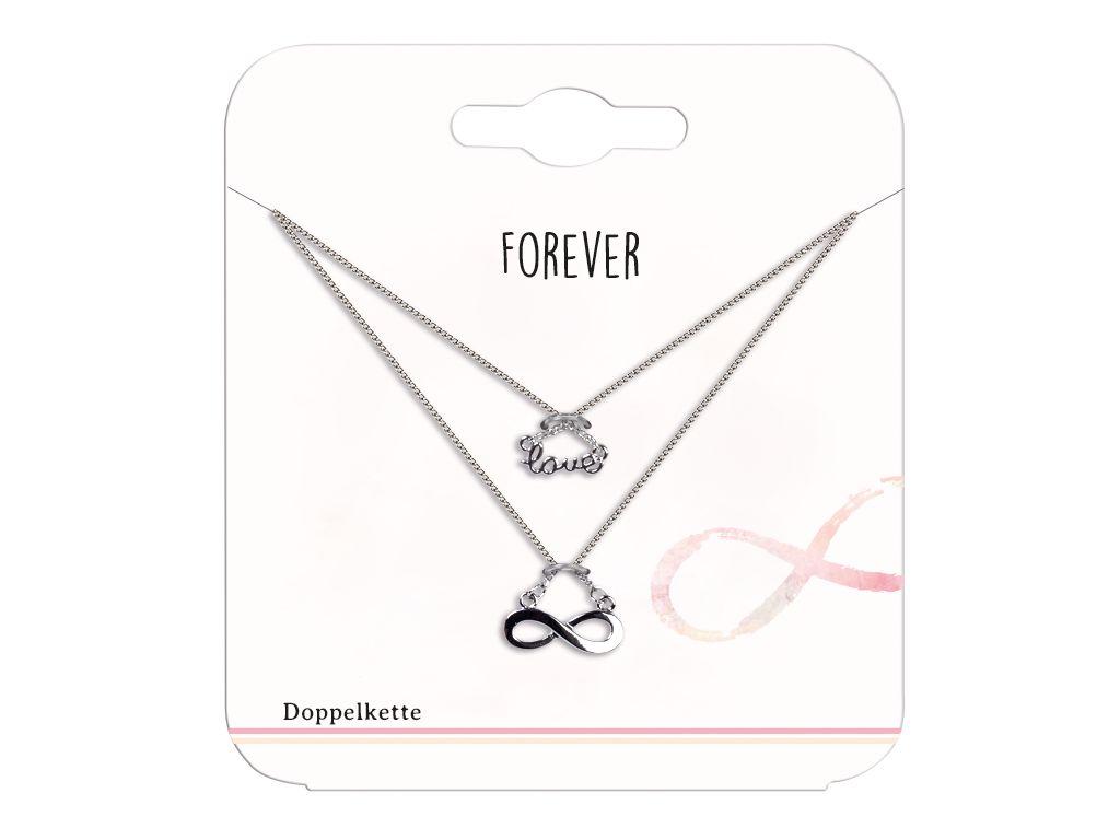 Doppelkette Infinity/Love