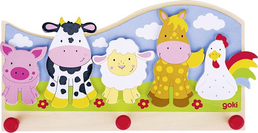 Garderobe Tiere auf dem Bauer