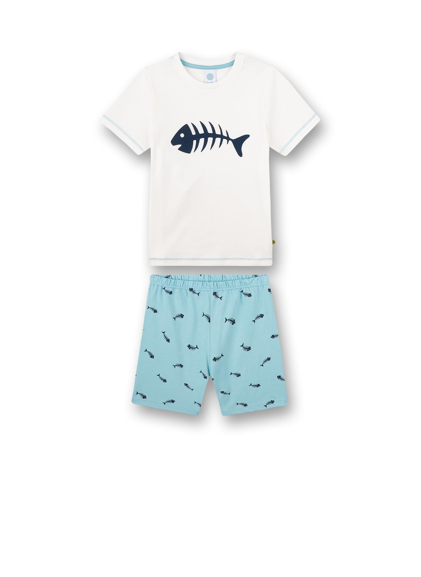 Pyjama short 140 white pebble Sanetta
