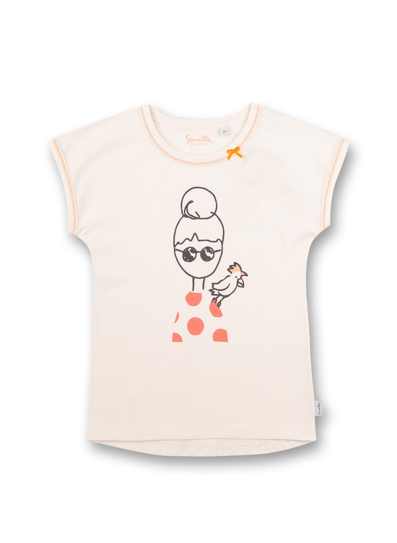 T-shirt 110 white whisper Sanetta Kidswear