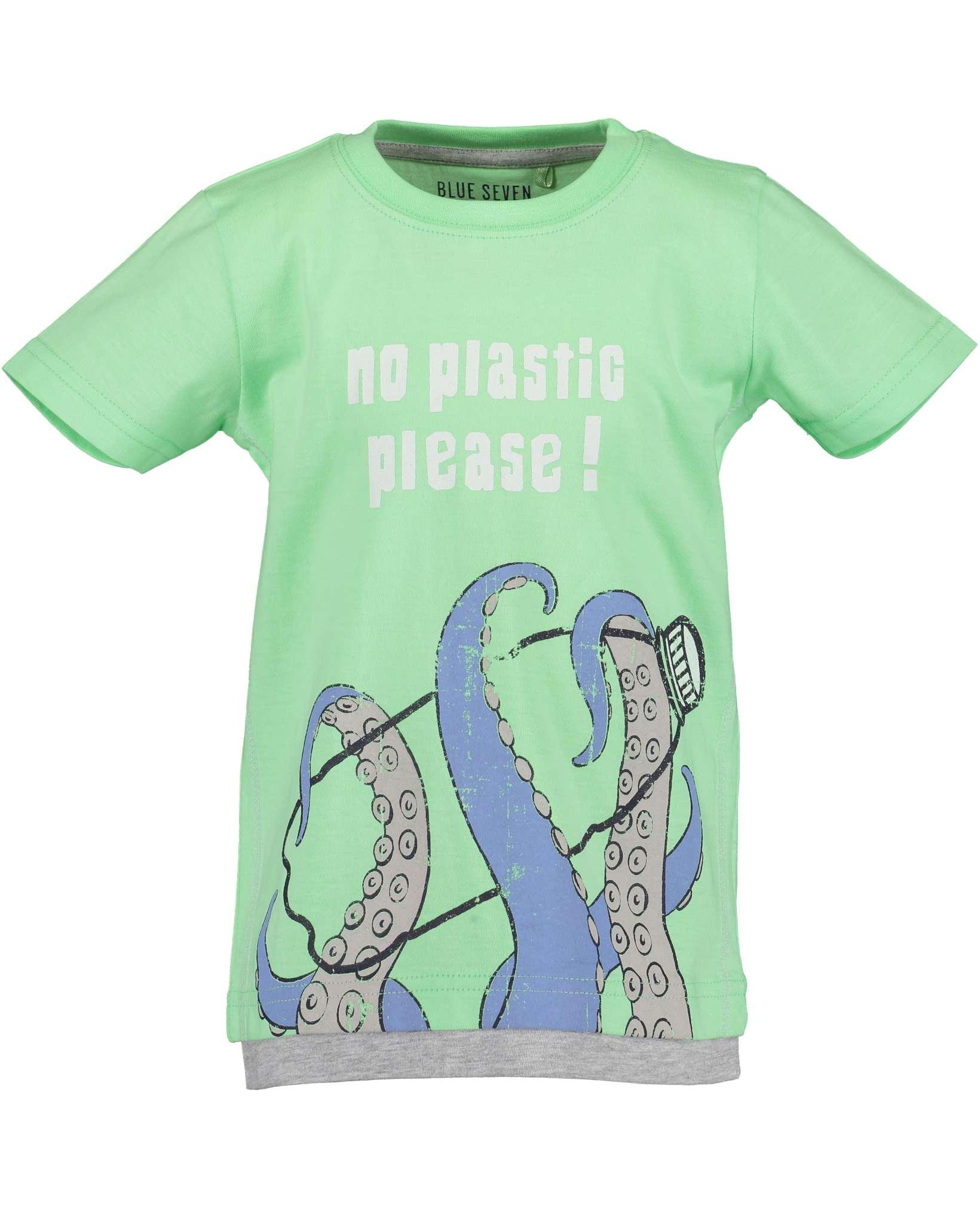 T-Shirt 092 hellgrün Blue Seven