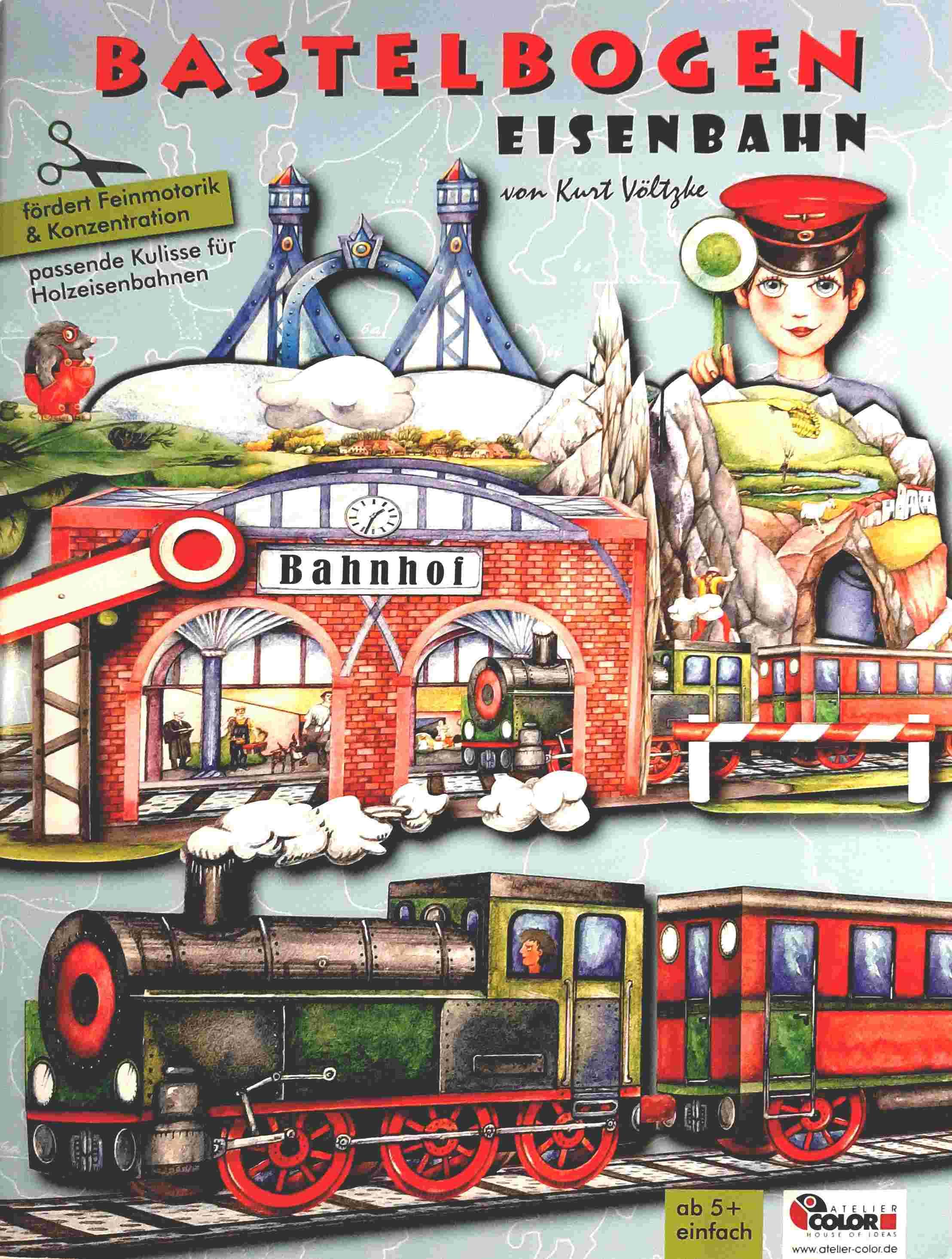 Bastelbogen Eisenbahn