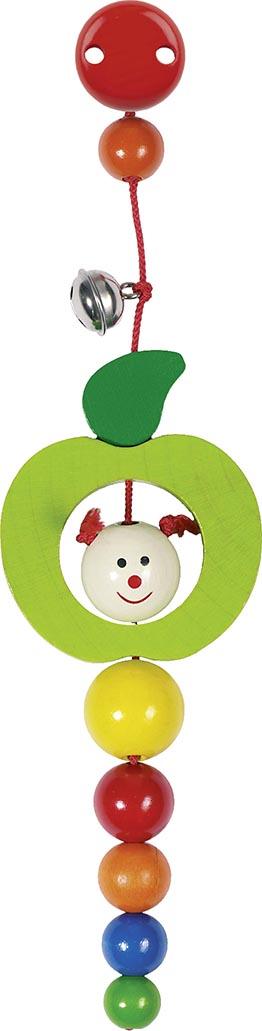 Clip Raupe im Apfel mit Glock H= 17 cm, Holz, per Stück