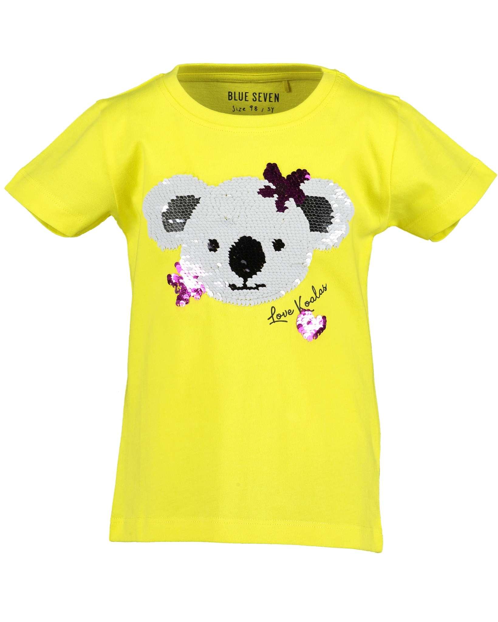 T-Shirt 092 gelb Blue Seven