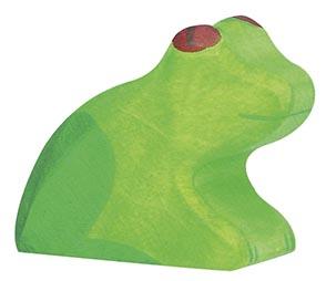 Frosch ca. 5 x 1,9 x 4 cm, Holz, per Stück