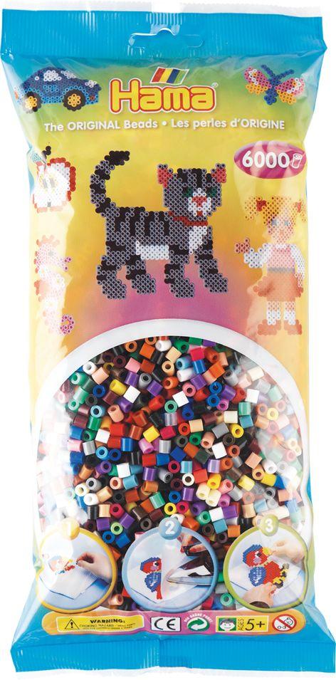 Perlenbeutel 6000 Stck. Vollt Perlenbeutel 6.000Stück Vollton-Mix (22 Farben)